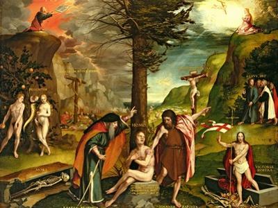 Allegory of the Old and New Testaments, Early 1530s by Hans Holbein the Younger