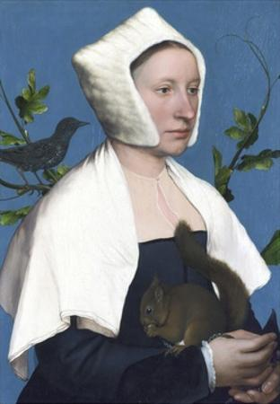 Lady with a Squirrel and a Starling by Hans Holbein the Younger