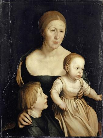 Portrait of the Artist'S Wife with the Two Elder Children, 1528-29 by Hans Holbein the Younger