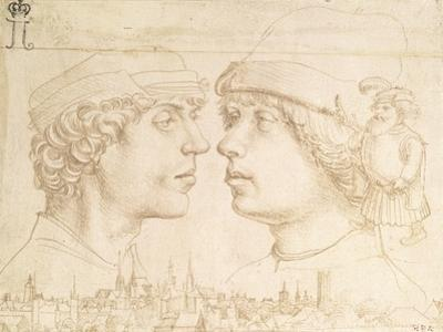 Portraits of Two Youths, a Dwarf and a Townscape, C.1514 by Hans Holbein the Younger