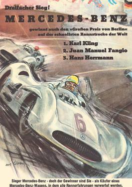 Mercedes Benz - Grand Prix of Berlin - Formula One Racing by Hans Liska