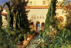 Der Garten des Generalife Bei Granada by Hans Ludwig Fischer