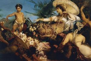 Cleopatra on Nile, Circa 1875 by Hans Makart