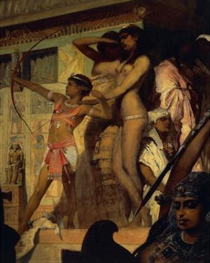 Hunting on Nile, Detail by Hans Makart