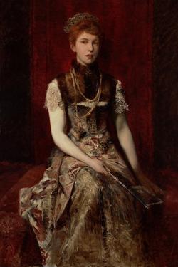 Portrait of Dora Fournier-Gabillon, Ca 1879 by Hans Makart