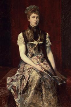 Portrait of Dora Von Makart by Hans Makart