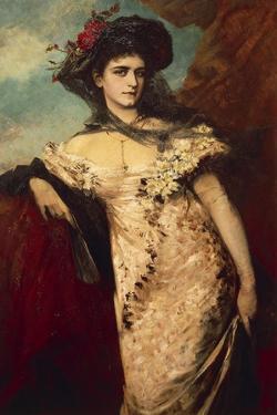 Portrait of Franziska Charlemont by Hans Makart