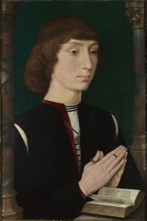 A Young Man at Prayer, 1470S by Hans Memling