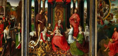 Altarpiece of St. John the Baptist and St. John the Evangelist, 1474-79 by Hans Memling