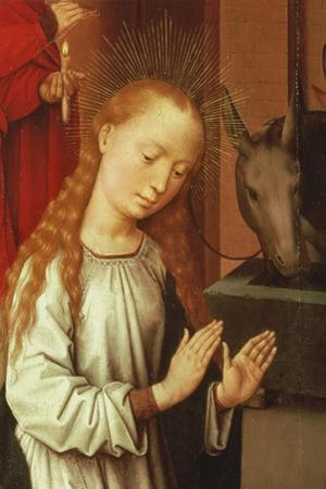 Detail of the Virgin from a Nativity Scene by Hans Memling