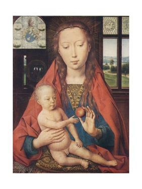 'Madonna and Child, from The Diptych of Maerten van Nieuwenhove', 1487 by Hans Memling