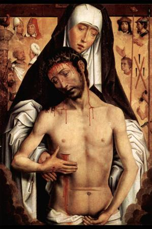 Maria with Dying Christ by Memling by Hans Memling