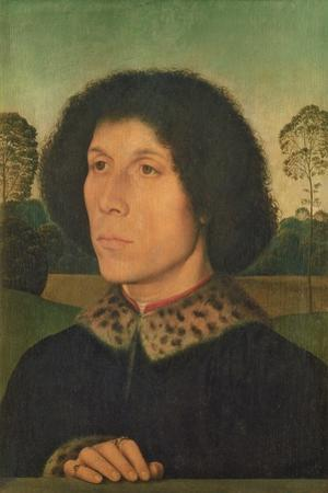 Portrait of a Man Against a Landscape, C.1470 (Panel)