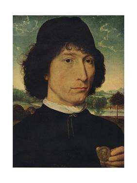 'Portrait of a man holding a coin of the Emperor Nero', 1474 by Hans Memling