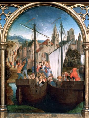 St Ursula Shrine, Arrival in Basle, 1489