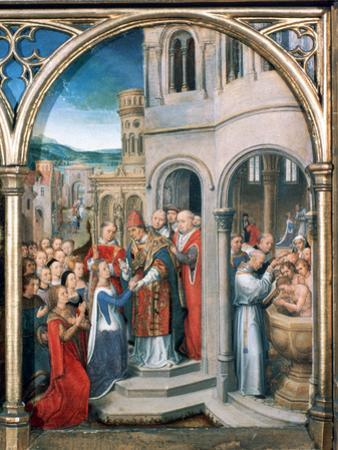 St Ursula Shrine, Arrival in Rome, 1489