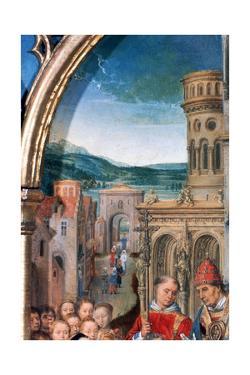 'St Ursula Shrine, Arrival in Rome', Detail, 1489. Artist: Hans Memling by Hans Memling