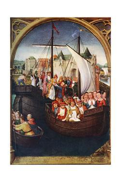 'The Departure of St Ursula from Basel', before 1489, (c1900-1920).Artist: Hans Memling by Hans Memling