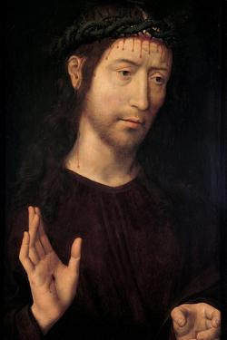 The Man of Sorrows Blessing, 1480-1490 by Hans Memling