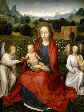 The Virgin and Child between two Angels, 1480-1490 by Hans Memling