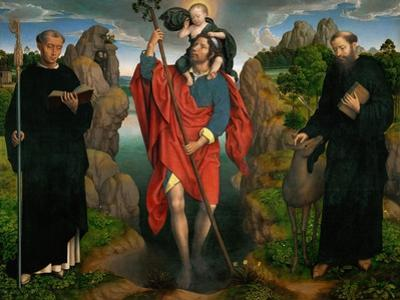 Triptych of Saint Christopher (Moreel Triptych),1484 by Hans Memling