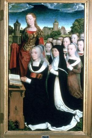 'Triptych of the Family Moreel', Detail, 1484. Artist: Hans Memling by Hans Memling