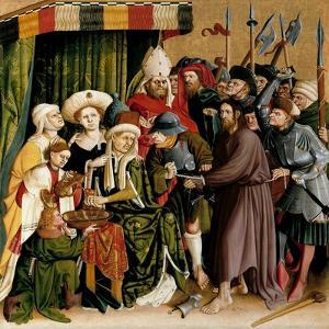 Christ before Pilate. the Wings of the Wurzach Altar, 1437 by Hans Multscher