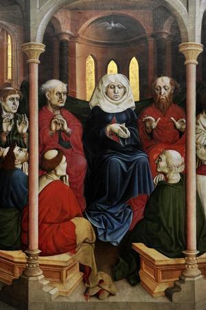 Wurzach Altarpiece, 1437. Pentecost by Hans Multscher (1400-1467)