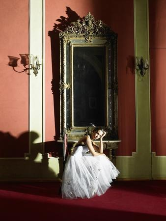 Woman Wearing Ballerina Dress