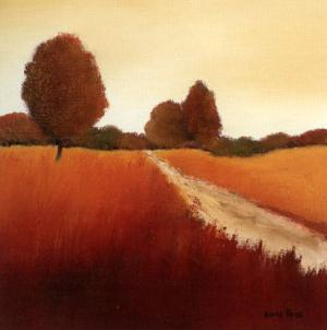Scarlet Landscape I by Hans Paus