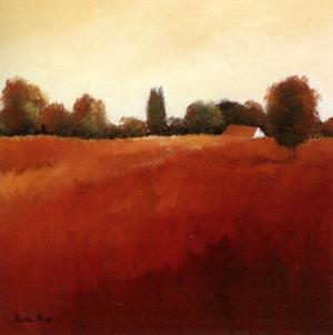 Scarlet Landscape III by Hans Paus