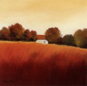 Scarlet Landscape IV by Hans Paus