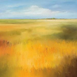 Yellow Fields I by Hans Paus