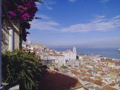 Alfama and Rio Tejo (Tagus River), Lisbon, Portugal, Europe by Hans Peter Merten