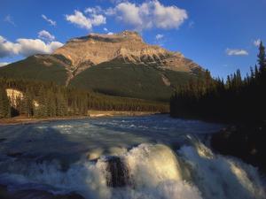 Athabasca Falls and Mount Kerkeslin, Jasper National Park, Alberta, Canada by Hans Peter Merten