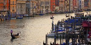 Canal Grande (Grand Canal), Venice, UNESCO World Heritage Site, Veneto, Italy, Europe by Hans-Peter Merten