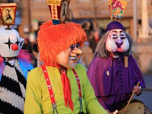 Carnival of Basel (Basler Fasnacht), Basel, Canton of Basel City, Switzerland, Europe by Hans-Peter Merten