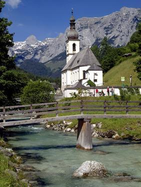Church in Ramsau, Berchtesgadener Land, Bavaria, Germany, Europe by Hans Peter Merten