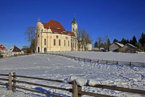 Church of Wieskirche near Steingaden, Bavaria, Germany, Europe by Hans-Peter Merten