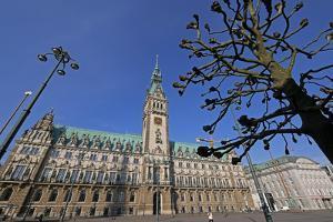 City Hall, Hamburg, Germany, Europe by Hans-Peter Merten