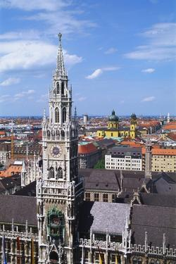 City Hall, Marienplatz, Bavaria, Germany, Europe by Hans Peter Merten