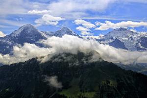 Eiger, Monch and Jungfrau, seen from Schynige Platte, Bernese Oberland, Canton of Bern, Switzerland by Hans-Peter Merten