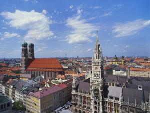 Elevated View of Frauenkirche, Munich, Germany by Hans Peter Merten