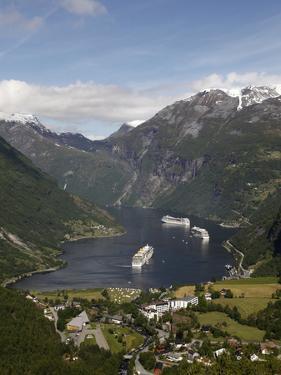 Geiranger Fjord, UNESCO World Heritage Site, More Og Romsdal, Norway, Scandinavia, Europe by Hans Peter Merten