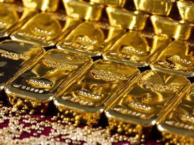 Gold Ingots, Frankfurt, Germany, Europe