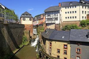 Hackenberg Mill with Leukbach Waterfall and Mill Museum, Saarburg on River Saar, Rhineland-Palatina by Hans-Peter Merten