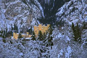 Hohenschwangau Castle near Schwangau, Allgau, Bavaria, Germany, Europe by Hans-Peter Merten