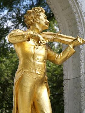 Johann Strauss Statue at Stadtpark, Vienna, Austria, Europe by Hans Peter Merten