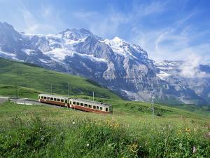 Jungfrau Railway and the Jungfrau, 13642 Ft., Bernese Oberland, Swiss Alps, Switzerland by Hans Peter Merten