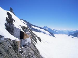 Jungfraujoch, 3454 M, and Aletsch Glacier, Bernese Oberland, Swiss Alps, Switzerland by Hans Peter Merten